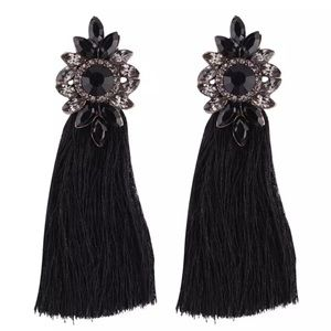 Jewelry - Beautiful Black Tassel Earrings